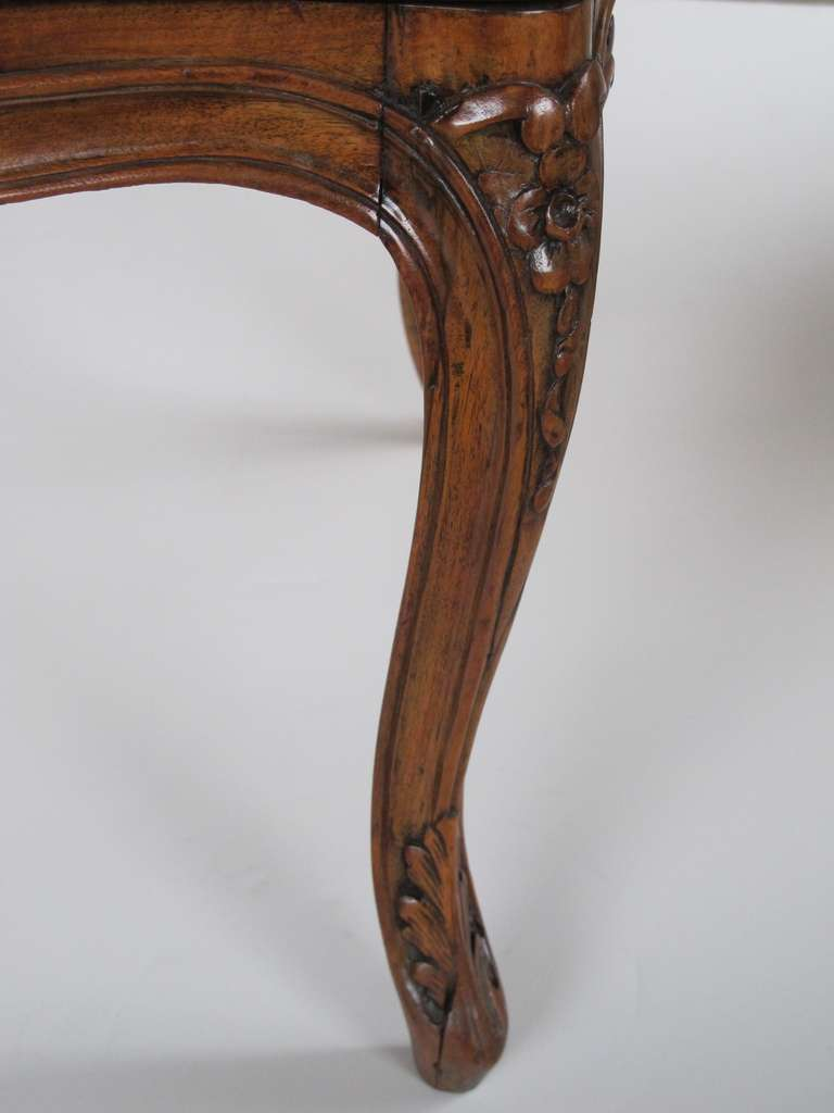 Elegant Pair Of French Rococo Beechwood Open Arm Chairs