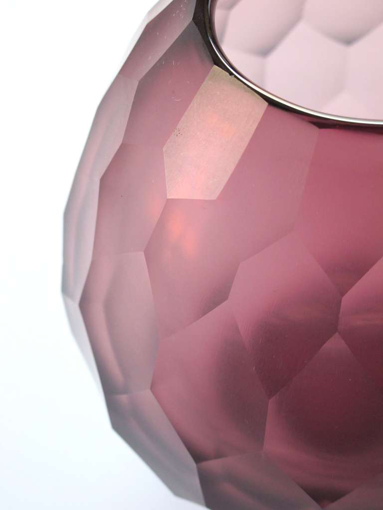 A stylish moser 1970s amethyst faceted glass vase at 1stdibs czech a stylish moser 1970s amethyst faceted glass vase for sale reviewsmspy