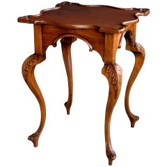 A Graceful English George II Style Carved Mahogany Side Table