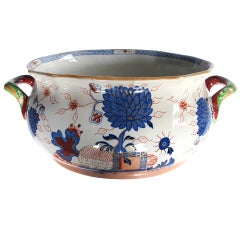 A Rare English Mason's Ironstone Double-Handled Oval Jardiniere