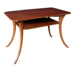 A Stylish American  Rectangular Walnut Side Table; Widdicomb