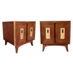 A Good Quality Pair of American Mahogany 2-Door Beside Tables