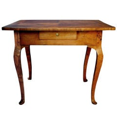 A Warmly-Patinated Italian Rococo Olivewood Center Table