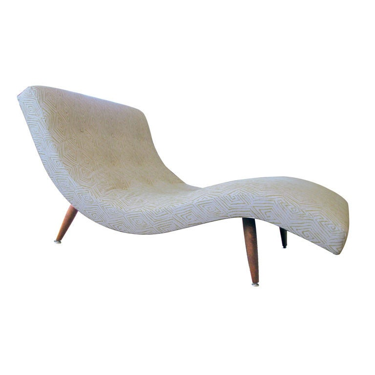 a curvaceous american s shaped chaise lounge by adrian ForS Shaped Chaise Lounge Chairs