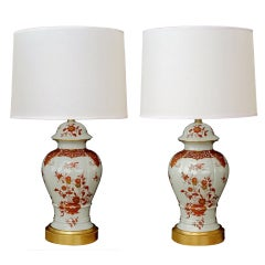 A Graceful Pair of French White Porcelain Ginger Jar Lamps