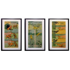 A Whimsical and Rare  Set of 7 French Posters by Benjamin Rabier
