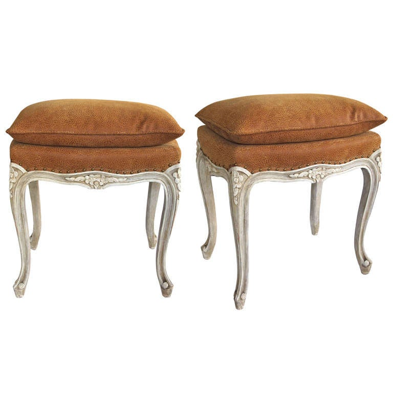 Elegant And Well Carved Pair Of French Louis Xv Style