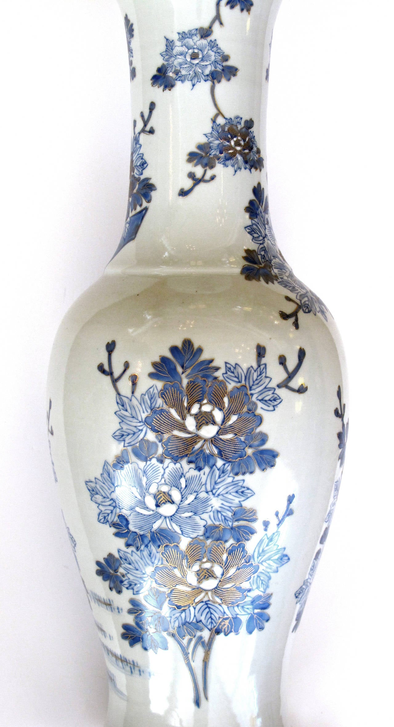 this chinese blue and white painted and gilt porcelain lamp is no. Black Bedroom Furniture Sets. Home Design Ideas