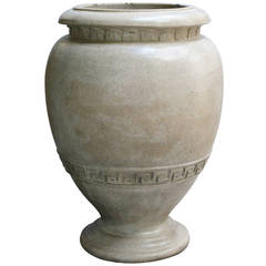 American Neoclassical Style Pottery Urn by N. Clark & Sons