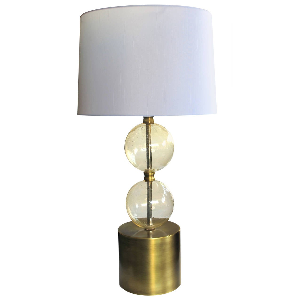 Mid Century Orb Lamp: Murano Mid Century Lamp Of Stacked Gold Orbs For Sale At