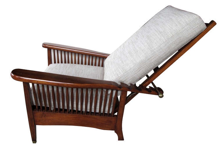 An English Arts And Crafts Mahogany Ratchet Recliner Chair