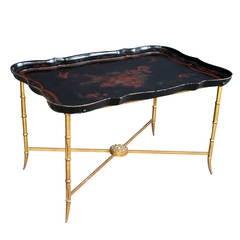 Elegant French 1940s Tray Table by Maison Baguès, Paris