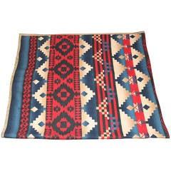 Rare Patriotic Beacon, Indian Design Camp Blanket