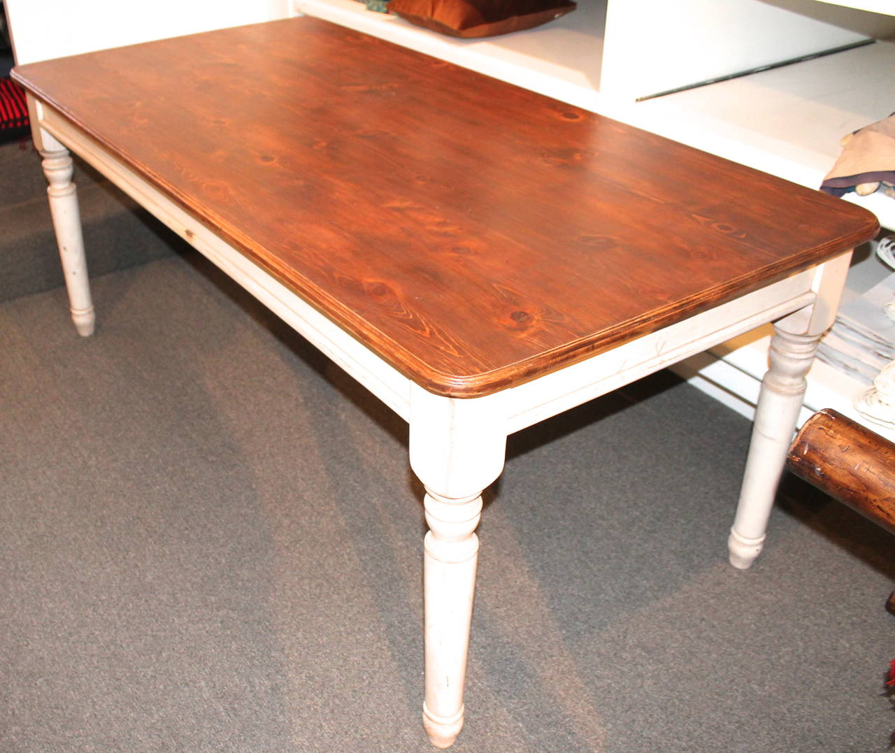 This Large Late 20th Century Harvest Table Is A Newer Version Of The 19th  Century Large
