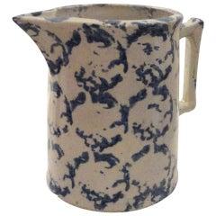 19th Century Spongeware Pitcher from Pennsylvania