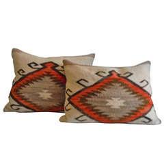 Early Navajo Indian Weaving  Geometric Pillows