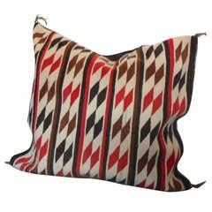 Amazing Large Saddle Blanket / Navajo Indian Weaving Pillow