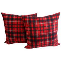 Pair of Plaid Pillows