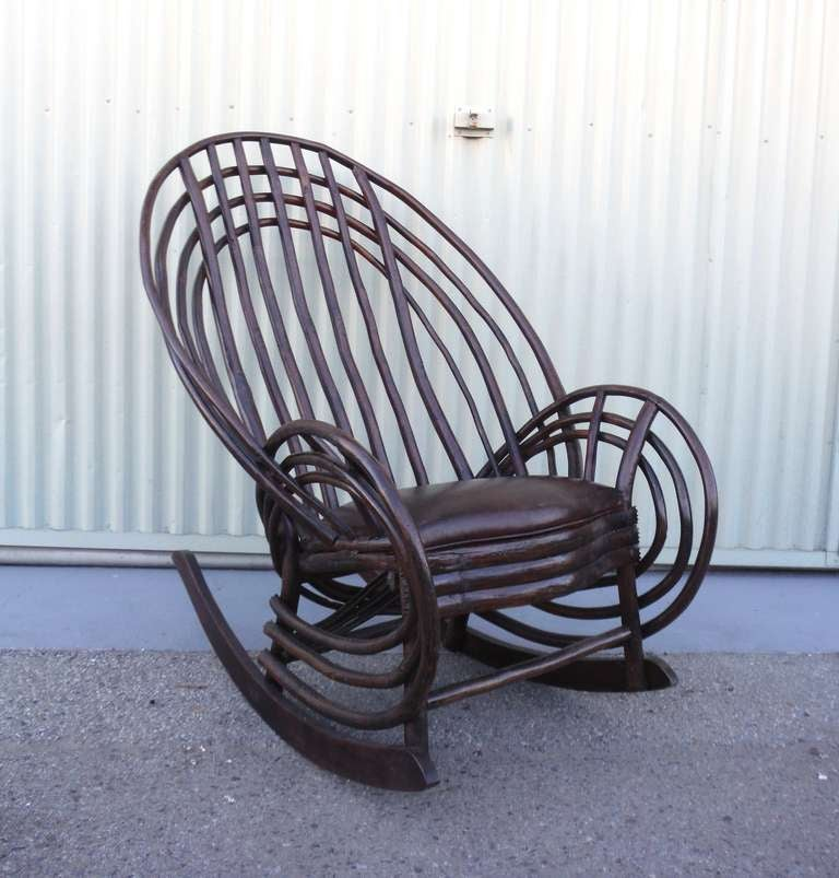 Exceptional Bentwood Twig 19th Century Barrel Back Rocker at 1stdibs