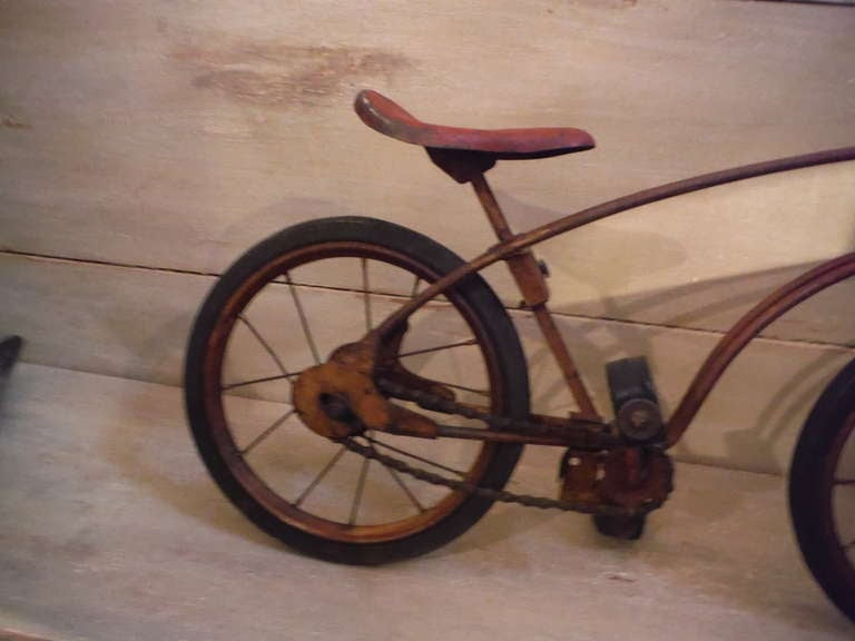 Signed Mobo 1926 Childrens Bicycle In Original Surface At
