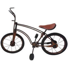 Signed Mobo  1926 Childrens Bicycle In Original Surface