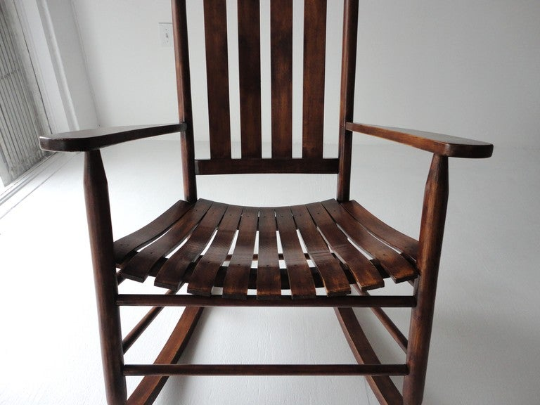 Rustic Country Rocking Chair From Maine At 1stdibs