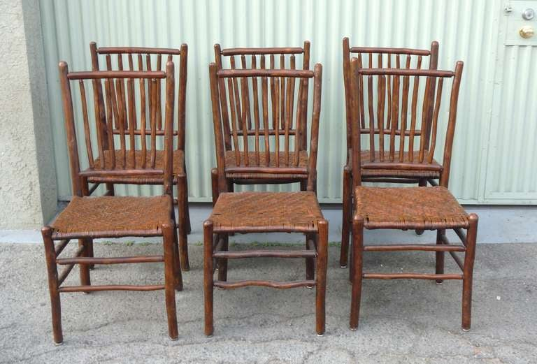 Fantastic Set Of Six Signed Old Hickory Chairs At 1stdibs