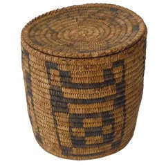 Papaco  American Indian Storage Basket With Original Lid
