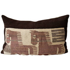 Folky Mexican Indian Weaving Pictorial Pillow
