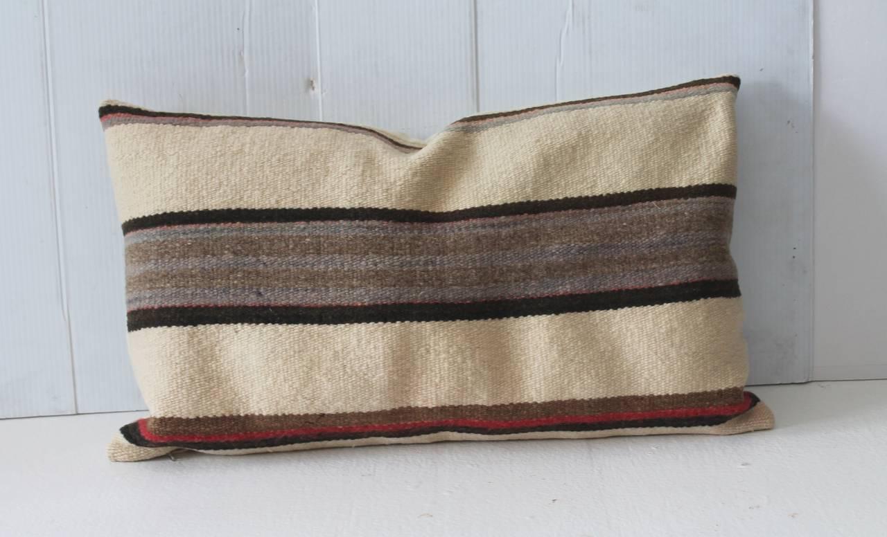 Simple Striped Navajo Weaving Bolster Pillow At 1stdibs
