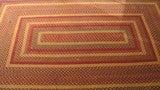Fantastic Large Rectangular Braided Rug in Indian Sunset Colors image 2