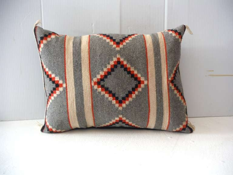 Geometric Navajo Indian Weaving Pillow At 1stdibs