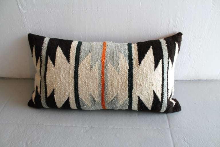 navajo geometric indian weaving bolster pillow 2
