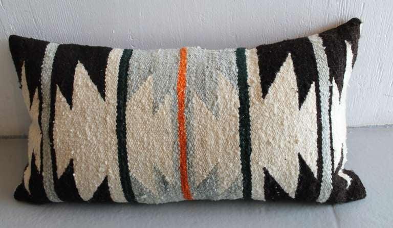 American Navajo Geometric Indian Weaving Bolster Pillow For Sale