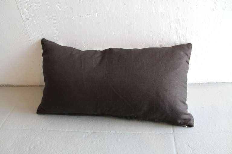 Navajo Geometric Indian Weaving Bolster Pillow In Excellent Condition For Sale In Los Angeles, CA