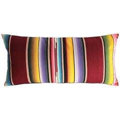 Large Mexican Serape Bolster Pillow