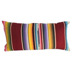 Mexican Serape Wool Bolster Pillow