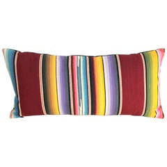 Mexican Colorful Serape Bolster Pillow