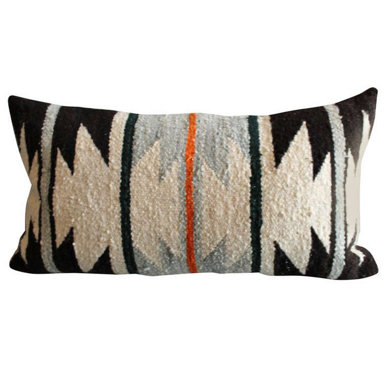 Navajo Geometric Indian Weaving Bolster Pillow