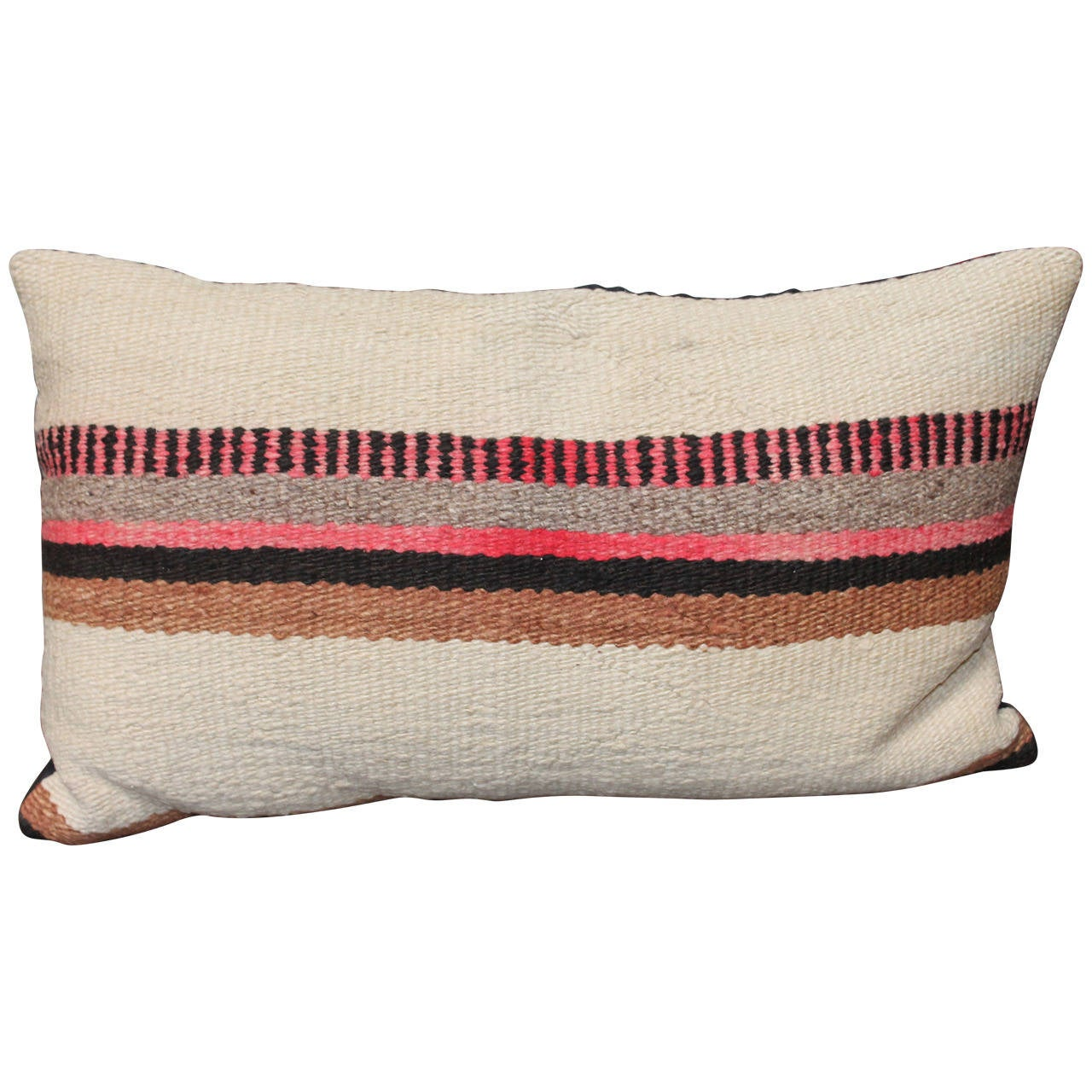 Striped Navajo Indian Weaving Pillow At 1stdibs