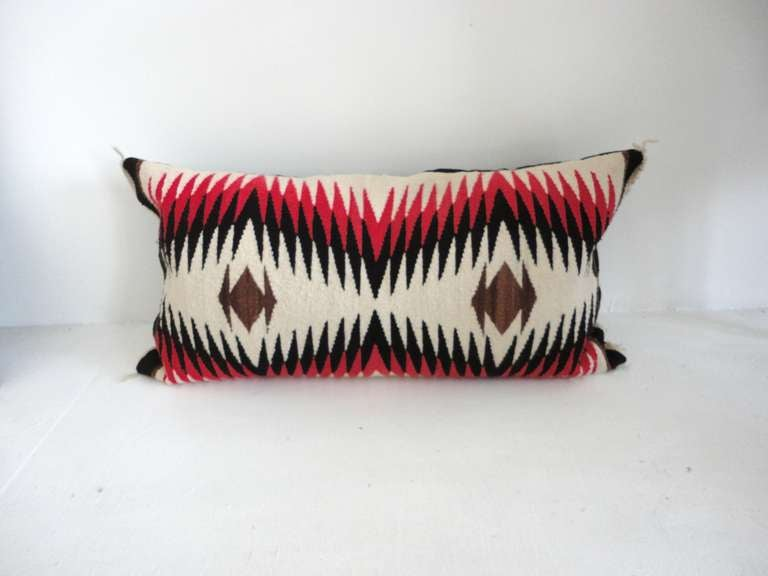 Navajo Indian Weaving Bolster Pillows 4 At 1stdibs