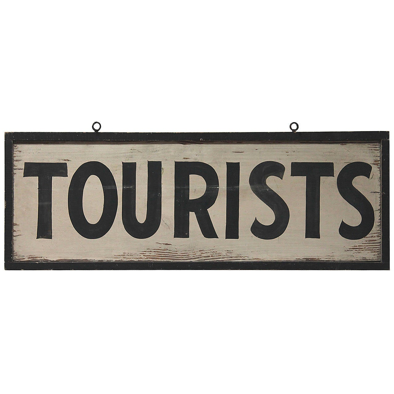 19th Century Original Painted Quot Tourists Quot Sign From The State Of Maine