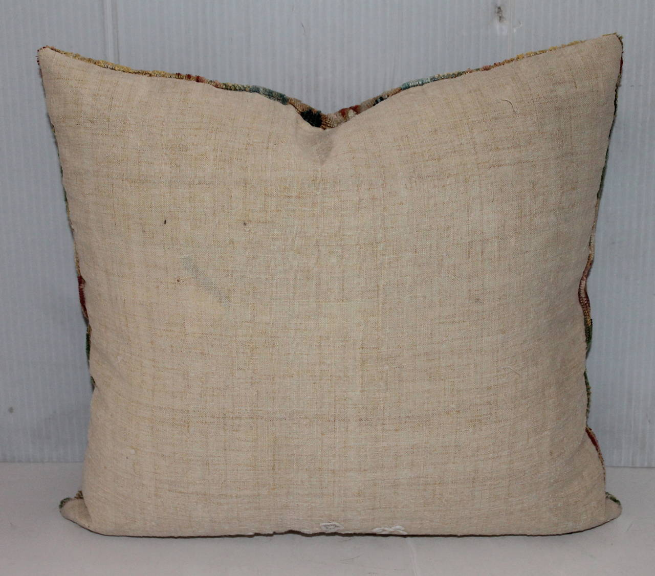 18th Century Flame Stitched New England Pillow 3