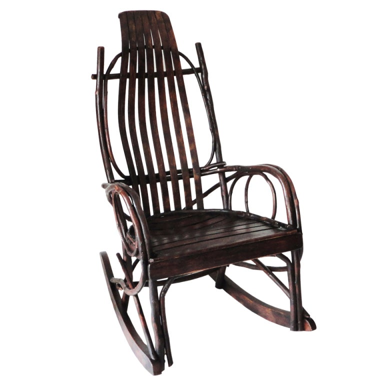 Amish Childu0026#39;s Bentwood Rocking Chair For Sale at 1stdibs
