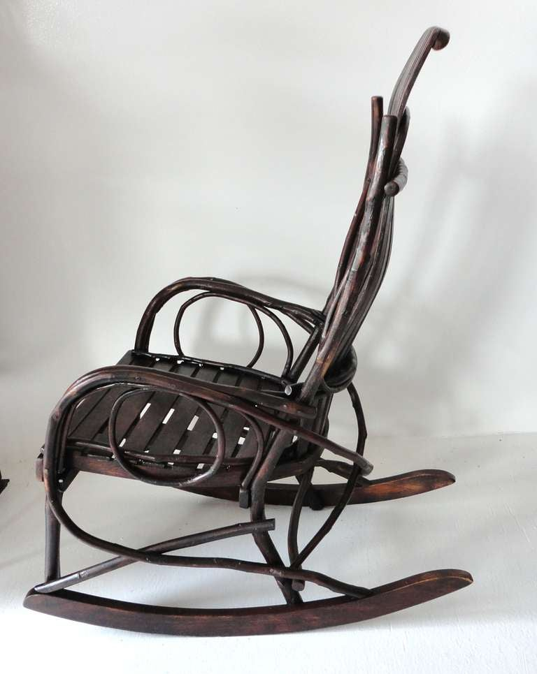 amish child s bentwood rocking chair at 1stdibs