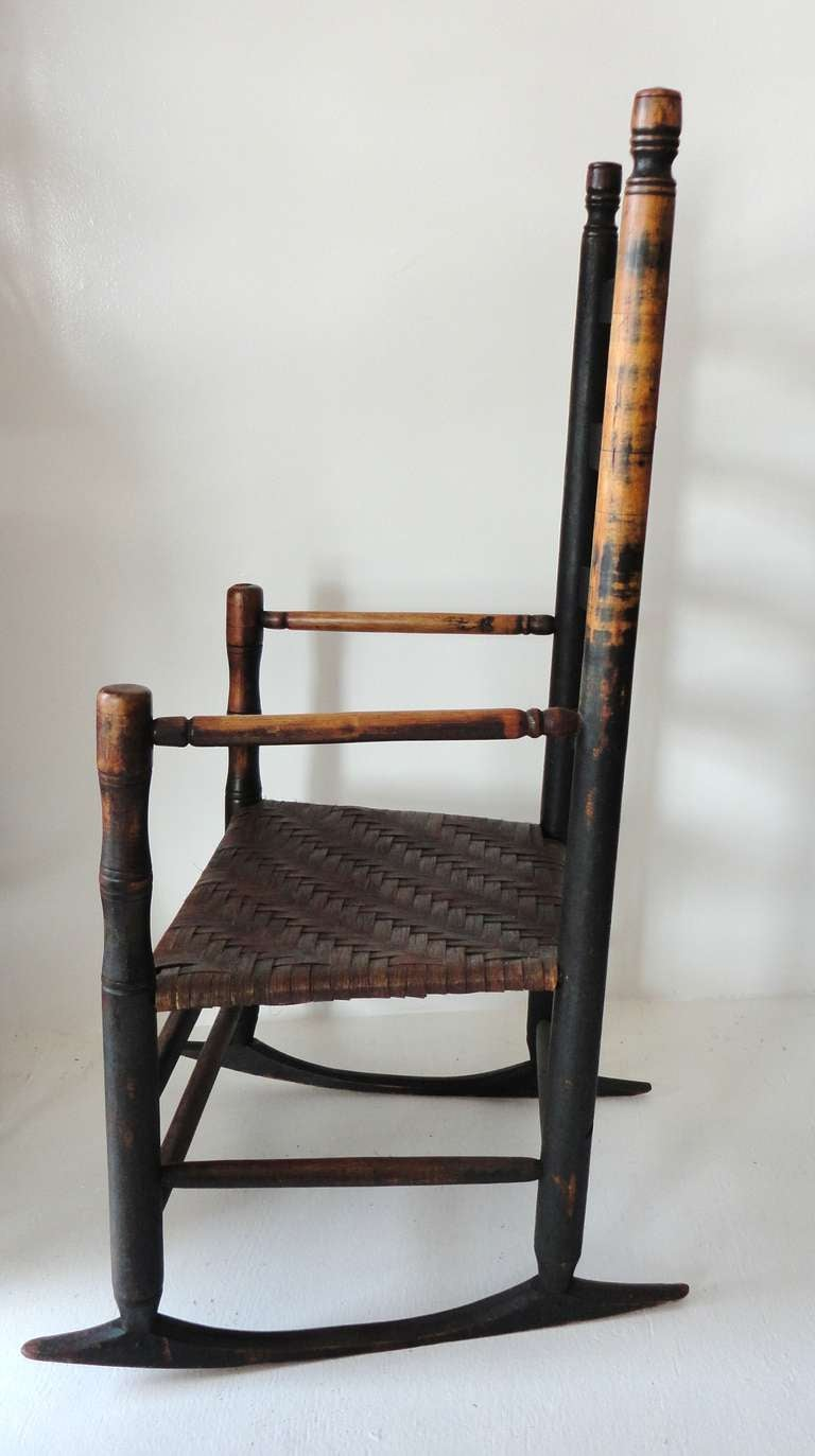 This 18thc Original Dark Green Ladder Back Chair From New England is ...