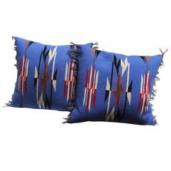 Pair of Mexican-American Chimayo Indian Weaving Pillows