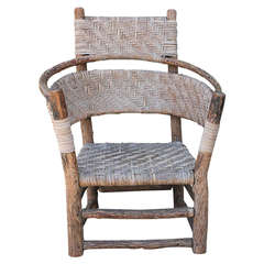 Old Hickory Barrell Back Rustic Armchair
