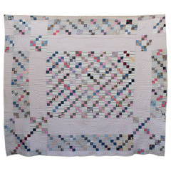 Four Patch Postage Stamp Quilt