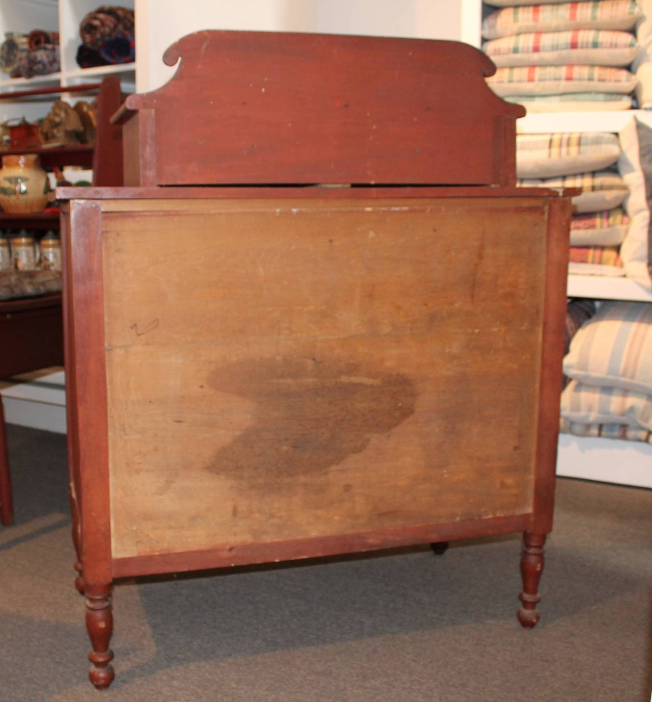 Early 19th Century Red Painted and Bird's-Eye Maple Chest of Drawers from Maine 8